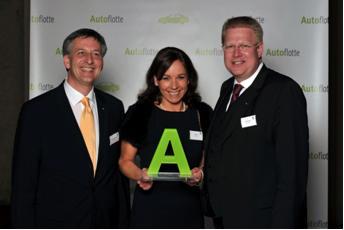 Nahmen den Fleet-Award 2010 stellvertretend für die Kollegen entgegen: Thilo von Ulmenstein, Tanja Ross und Roland Vogt. (v.l.n.r.)