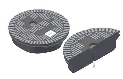 Bei Signalstörungen – beispielsweise verursacht durch Oberleitungen – lassen sich zusätzliche Sendeantennen direkt in den Schachtdeckel integrieren.