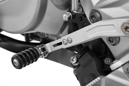 Optically & functionally a highlight: Adjustable gear shift lever on Wunderlich BMW F 750 GS