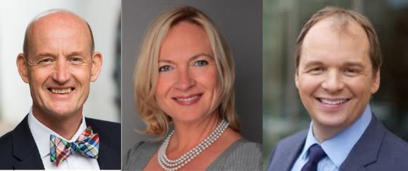 Günther Illert, Brigitte Lippmann und Christian Milaster heißen die neuen Partner im US-Chapter der Healthcare Shapers beim Gründungstreffen in Washington DC willkommen.