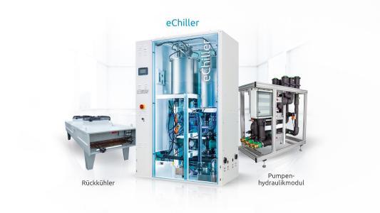 Plug-and-Play Dreamteam - eChiller mit Rückkühler und Pumpenhydraulikmodul