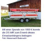 Unterstützung der Wasserwacht Bodenwöhr