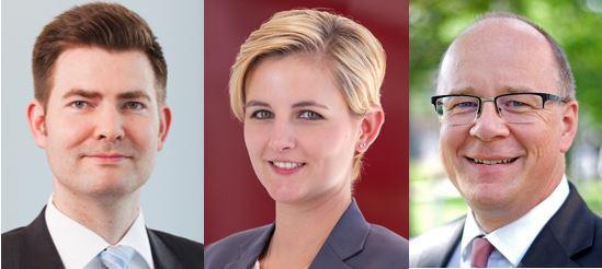 Dr. Christian Lenz, Kirsten Garling und Axel Amelung