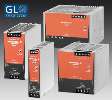 Weidmüller's 'PRO-M' switch-mode power supplies with GL approval