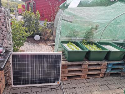 Aquaponic mit Solar und Photovoltaik