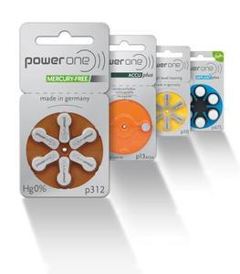 Komplettsortiment power one Hörgerätebatterien