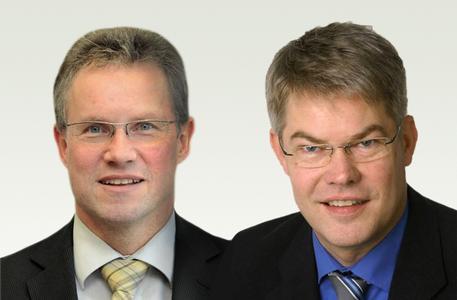Dr.-Ing. Günter Kuhlmann, Leiter F&E Höft & Wessel AG und Thomas Fortmeier, Leiter Vertrieb & Marketing Höft & Wessel AG, Foto: Höft & Wessel Aktiengesellschaft