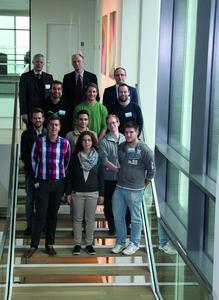 Gekommen um zu bleiben! Studierende zu Gast in Heilbronn Franken Gruppenfoto HS Aschaffenburg Quelle Wittenstein AG