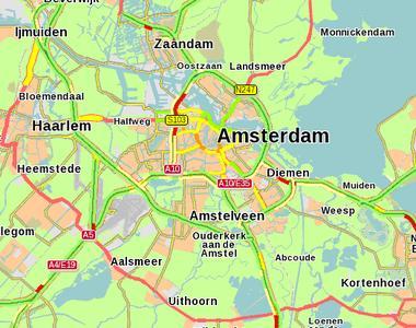 Die PTV AG hat Life-Daten aus Amsterdam und Umgebung für die Präsentationen aufbereitet