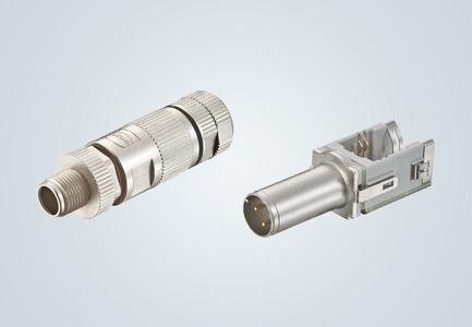 Platzsparendes Design beim preLink® M12 Steckverbinder D-kodiert