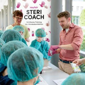 Tag der Händehygiene – erstmals sichtbares Training der korrekten Händedesinfektion mit Stericoach