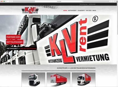 KLVrent Screenshot Homepage