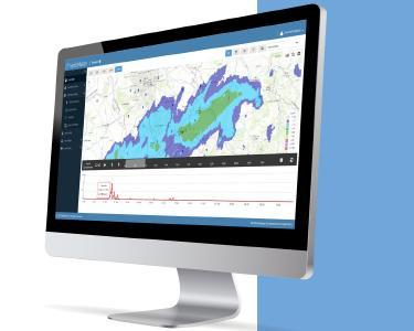 HydroMaster empfängt Echtzeit-Radardaten und zeigt Niederschlagsbeobachtungen und -prognosen in hoher räumlicher und zeitlicher Auflösung.