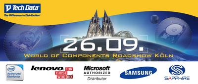 Tech Data lädt zur 3. World of Components Roadshow nach Köln