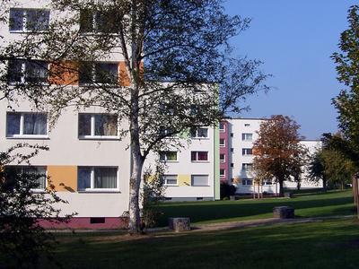 Charakteristisch für den Wohnpark Zehntenhof sind seine aufgelockerte Bebauung sowie die großen Grün- und Freiflächen
