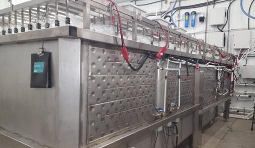 Bestehende, kommerzielle Extraktionsanlage; Foto: Pond Technologies