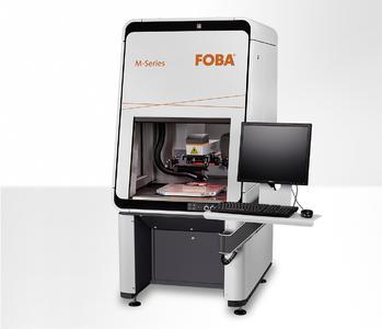 Laserbeschriftungsgerät FOBA M2000 mit neuem Faserlaserbeschrifter der Y-Serie und integriertem Kamerasystem IMP
