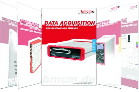 """DATA ACQUISITION"" - Measurement systems and accessories from bmcm"