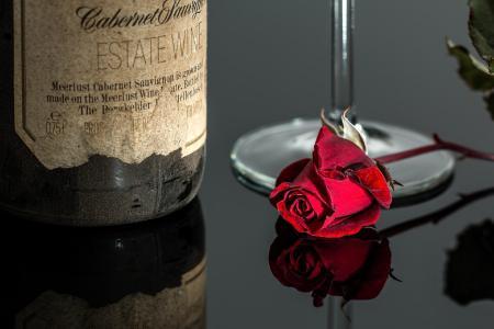 Bei einem Glas Wein kann man den Abend ruhig ausklingen lassen...
