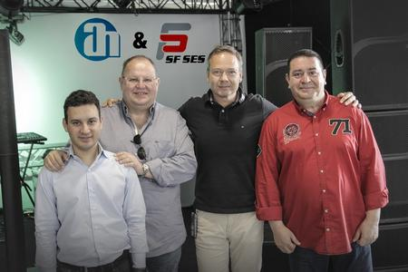 f.l.t.r: Ferhan Kayral, VP Technical & Projekt Department SF SES and SF SES Owner Samim Mutluer, Adam Hall COO Markus Jahnel and SF SES- Sales Manager Bertan Taptik
