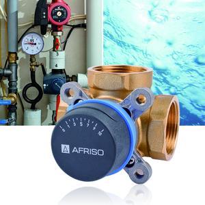 Die neuen 3- und 4-Wege-Mischventile ARV von AFRISO werden in wasserbasierten Heizungs- und Kühlsystemen eingesetzt und bieten völlige Flexibilität beim Einbau. Die Ventile sind intuitiv bedienbar und mit Stellmotoren automatisierbar (Foto: AFRISO)