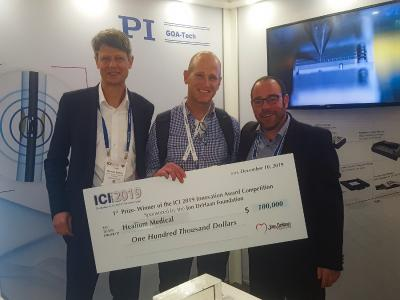 ICI Meeting 2019 (von links): Thomas Bocher (PI), Ran Sela (Healium Medical), Oren Frenkel (GOA-Tech)