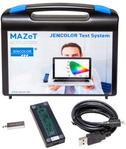 The MTCS-C3 sensor system is suitable for OEM test tasks, such as inspecting incoming LEDs, as well as for controlling multi-channel LEDs (Copyright: MAZeT GmbH)