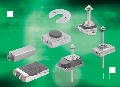 norelem bietet ein breites Spektrum an Nivellierkeilen zum sicheren und zügigen Aufstellen von Maschinen sowie Schwingungsdämpfer für einen ruhigen Betrieb.