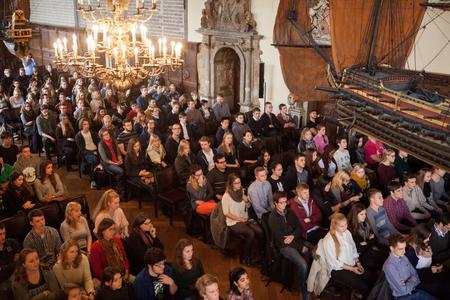 Erstsemester-Begrüßung in der Oberen Rathaushalle / Fotograf: Dennis Welge, Hochschule Bremen