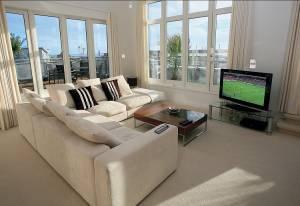Mit HomeMatic-Komponenten ausgestattetes Wohnzimmer