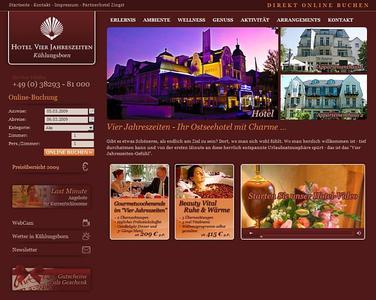 Das luxuriöse 4-Sterne-Hotel Vier Jahreszeiten in Kühlungsborn an der Ostsee bietet auf seiner neuen Website viele Informationen und eine Online-Buchung an.