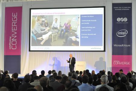 Jim Scapa, CEO von Altair, auf der CONVERGE 2016 in Essen