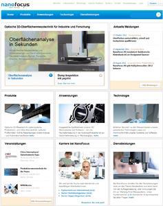 NanoFocus Website