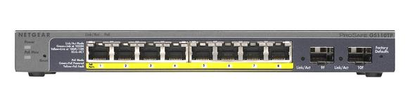Netgear GS110TP - ProSafe 8-Port Gigabit PoE Smart Switch
