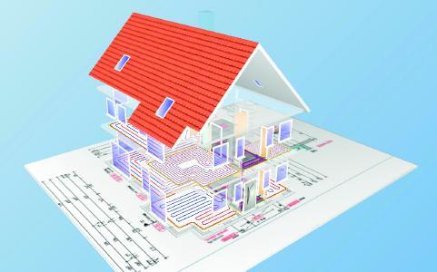 Planungsbeispiel eines Einfamilienhauses von WIEDEMANN Technik und Beratung (WTB)