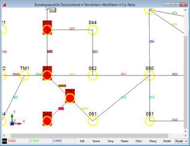 IMSWARE.NET zeigt den grafischen Streckenverlauf von CU- und FTTx-Installationen