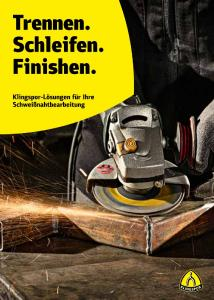 The cover of the new brochure shows the abrasive mop disc SMT 626 in action.