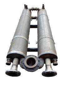 Abgaswärmetauscher einer Biogasanlage