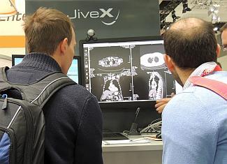 Erstmals zeigte VISUS auf der conhIT 2014 und dem 95. Deutschen Röntgenkongress die Integration einer Digitalen Stiftlösung in das eigene Archivsystem JiveX Medical Archive