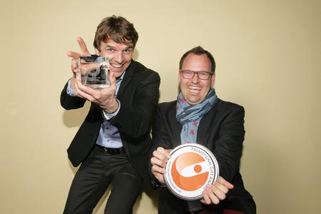 Die Gewinner des Promotional Gift Award erhalten auf der HAPTICAlive ihre Trophäen