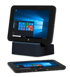 """Das e-medic™ 8,4"""" Tablet wird mit der optionalen Dockingstation zu einem vollwertigen Arbeitsplatz"""