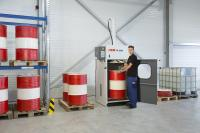 The barrel press HSM FP 3000 is a robust and reliable disposal solution