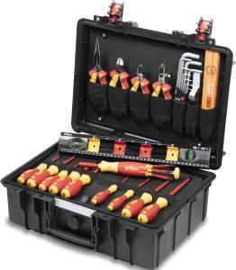 Der stabile Elektro-Werkzeugkoffer Basic Set L electric von Wiha enthält die Basisausstattung an hochwertigen Handwerkzeugen für den mobilen Einsatz, Fotoquelle: Wiha Werkzeuge GmbH