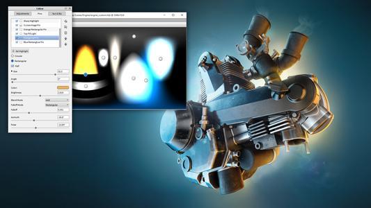 Neue Updates des KeyShot HDRI-Editors ermöglichen mehr Pin-Stile und höhere Geschwindigkeitsleistungen beim Betrachten und Erzeugen von HDRIs in Echtzeit.  Bild: Esben Oxholm