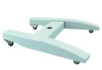 ROLEC macht der Automatisierung Beine: Für die perfekte HMI-Anbindung können die stehenden profiPLUS Systeme mit Rollen versehen werden, die eine hohe Mobilität gewährleisten, Bild: ROLEC Gehäuse-Systeme GmbH