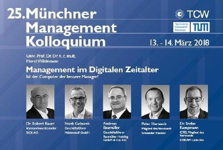 25. Münchner Management Kolloquium - Big Data - Herausforderungen und Lösungen im digitalen Zeitalter