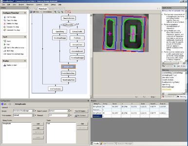 Abb. 4: Die Anwendungsentwicklung erfolgt mit der integrierten Entwicklungsumgebung des Matrox Design Assistant, der die direkte Konfiguration der Bildverarbeitungsanwendung erlaubt