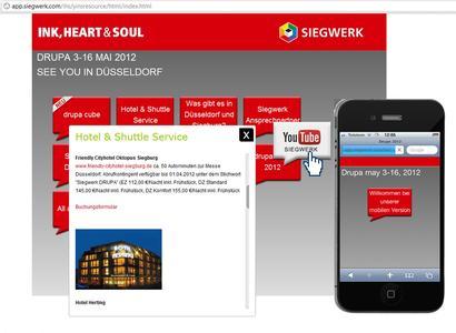 Messeportal 2.0: Die Siegwerk Druckfarben AG & Co. KGaA setzt auf die neue Web-App