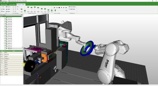 Cevotec software module MOTION ARTIST processing aircraft windows funnel