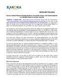 [PDF] Pressemitteilung: Karora meldet Rekord-Goldproduktion mit 30.365 Unzen und Goldverkäufen von 28.935 Unzen im dritten Quartal
